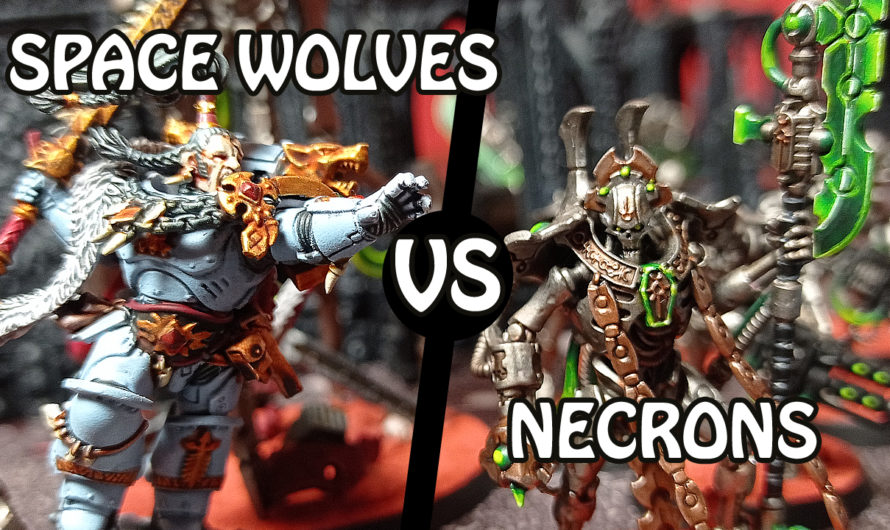 Warhammer 40000 – Space Wolves vs Necrons – 50 Power Level – Battle Report
